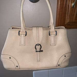 Authentic cream with soft leather Burberry purse
